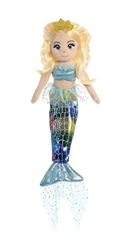 Aurora World Sea Sparkles Mermaid Doll Plush Toy, Multicolor