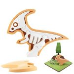 HALFTOYS Magnetic 3-D Puzzle Dinosaur Figures Toy Set for Kids & Family- Para-Fine Motor Development