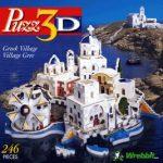 Greek Village, 246 Piece 3D Jigsaw Puzzle Made by Wrebbit Puzz-3D