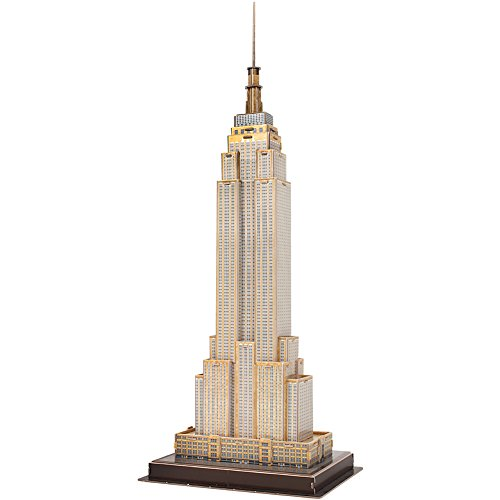 CubicFun 3D Puzzle Model Kits Toy US Architectural Kit for Adults and Kids, The Small NY Empire State Building