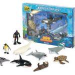 Wild Republic Ocean Dive Eco Expedition, Great White Shark, Sea Turtle, Sea Otter, Beluga Whale, Dolphin, Orca, Seal, Penguin, Oceanographer, Camera, Flashlight, 11Piece Set