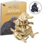 "Fantastic Beasts and Where to Find Them Niffler Book and 3D Wood Model Figure Kit - Build, Paint and Collect Your Own Wooden Model - Great for Kids and Adults, 8+ - 3"" h"