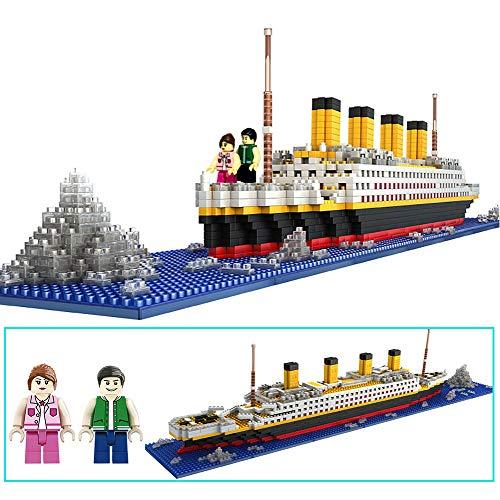 dOvOb Nano Blocks Titanic Model Building Set, Intellective Building Bricks, 3D Puzzle DIY Educational Toy, Gift for Adults and Children(1860 pcs)