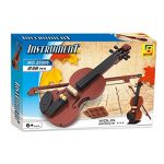 BRICK-LAND Complete Violin Educational Building Toys Blocks Bricks for Boys Girls, Adults, for Team or Individual Building Great as a Family Project Ideal Educational Present