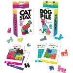 Brainwright Cat Stax The Perrfect Puzzle and Dog Pile The Pup-Packing Puzzles Gift Set (2 Puzzles)