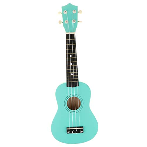 Flameer 21 Inch Mini Ukulele Uke Guitar Music Toy for Adult Kids Beginners, with a Alternate String - Turquoise, as described