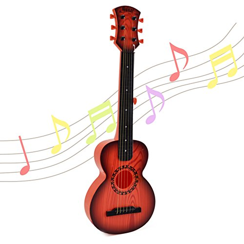 Kids Emulational Guitar Musical Toys - Happytime Guitar with 6 Strings Musical Instruments Educational Toys for Kids Children Adults