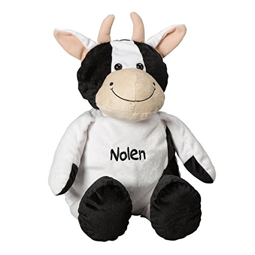 Personalized Stuffed Cow - Large Plush Stuffed Animal with Embroidered Child Baby Name - 24 inch - Gift