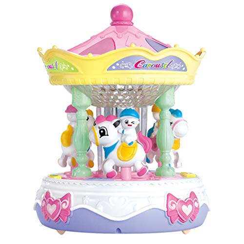 Finedayqi Ship from US  Carousel Music Box Puzzle Sound and Light Baby Story Learning Machine