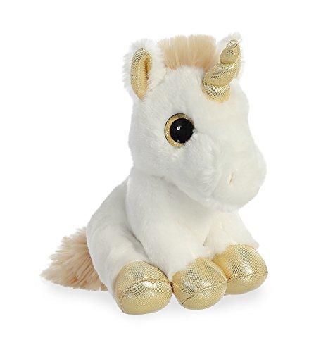 Aurora World 16714 Gold Unicorn Plush, 8