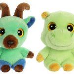 "Aurora YooHoo & Friends Plush Bundle - 5"" Kixx & 5"" Tamoo"