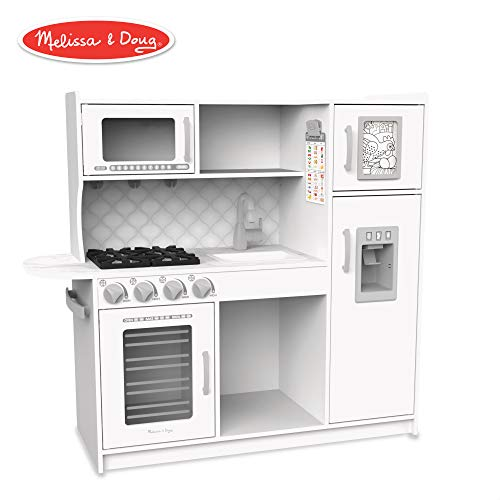 Melissa & Doug Wooden Chef'S Pretend Play Toy Kitchen with Ice Cube Dispenser - Cloud