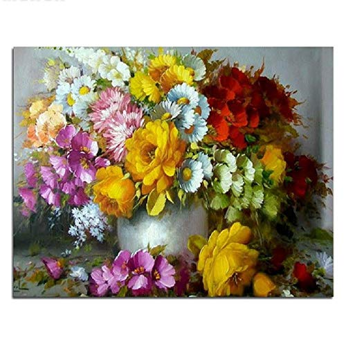 Puzzle Adults 3D Jigsaw 1000 Piece Wood Puzzles Pieces Flowers Vase Game Toy Home Decoration Art