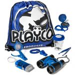 Playco Products Kids Explorer Kit - Includes Binoculars, Compass, Magnifying Glass, Flashlight, Whistle, and Bug Catching Kit - Fun Toys for Your Childrens' Next Camping, Hiking or Outdoor Adventure