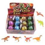 EH Pack of 12 Easter Eggs Color Crack Dinosaur Dragon Hatch & Grow Eggs (Color A)