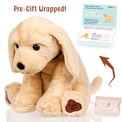 Dog stuffed animals - Cute, Soft and Cuddly Puppy Plush Animals Toy. Great Gifts for Baby Showers, Birthdays, Valentines or Christmas. Super Huggable Dogs Puppies Plushies Golden Retriever Labrador
