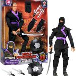 """Click N' Play 12"""" Inch Ninja Action Figure Play Set with Accessories."""