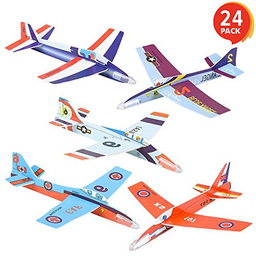 ArtCreativity Fighter Jets 3D Puzzle Set - Pack of 24-7 Inch Various Jet Design Schemes - Airplane Theme Party Activity - Great Party Favor, Summer Fun, Gift Idea for Boys and Girls