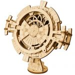 ROKR 3D Wooden Perpetual Calendar Puzzle,Mechanical Gears Toy Building Set,Brain Teaser Games,Engineering Toys,Family Wooden Craft KIT Supplies-Great Birthday for Husband Wife Adult