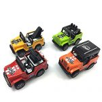 VANTIYAUS Jeep Toy (4 Packs) Pullback Jeep Wrangler Vehicles Toys Gifts ,Toy Car for Toddler,Mini Car Toy Gift for Kids (Color Random)