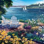 White Mountain Puzzles Garden By The Bay - 1000 Jigsaw Puzzle