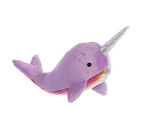 Aurora 33236 Shimmers Narwhal Assorted Plush, 7