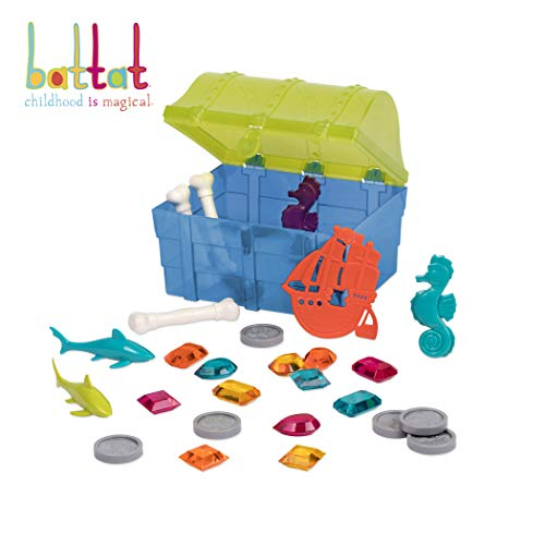 Battat - Pirate Diving Set - Water Toys & Pool Toys Diving Game In A Treasure Toy Box for Kids Age 8+ (28 Pcs)