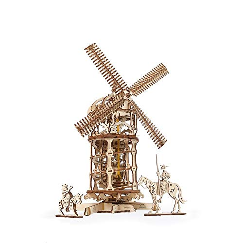 UGEARS Mechanical Wooden 3D Puzzle Model Tower Windmill Construction Set