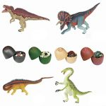 Karooch 20PCS Simulated Dinosaur Egg Toys 3D DIY Puzzle Assembled Animal Collection Model for Brain Manual Game and Kids Gifts