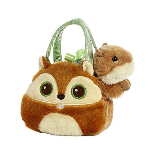 Aurora World Fancy Pals Pet Carrier Bright Eyes Squirrel Plush