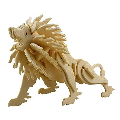 MoGist 3D Wooden Jigsaws Puzzle Educational Toys Simulation Lion Woodcraft Construction Kit