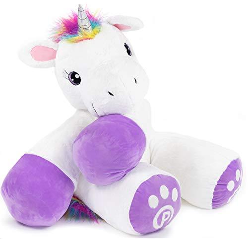 Plushible Unicorn Stuffed Animal for Kids - Big Stuffed Unicorn for Girls - Large (44