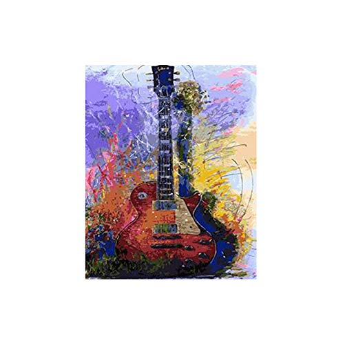 Jigsaw Puzzle 1000 Piece 3D Puzzle Color Guitar Abstract for for Living Room Home Decor 75X50Cm