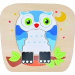 Discovery Toys Night Owl 2-Sided Wooden Puzzle