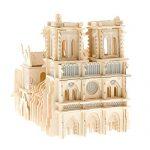 Notre Dame de Paris 3D Jigsaw,3D Building Model Jigsaw Puzzle Toy,Wooden Assembled DIY Simulation Model,Commemorative Edition
