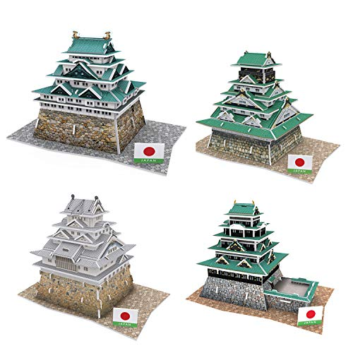 3D Puzzle Studio Fun Japanese Castles Nagota Edo Himeji Osaka Great Toys for Kids and Adults Gift or Presents for Children