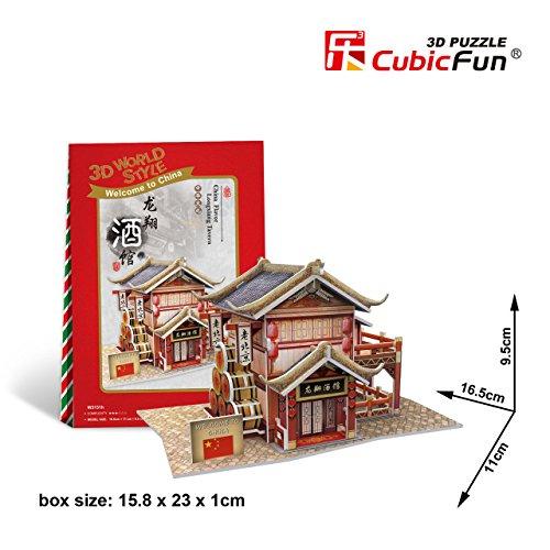 Cubicfun Cubic Fun 3d Puzzle Model China Flavor Longxiang Tavern 16.5cm