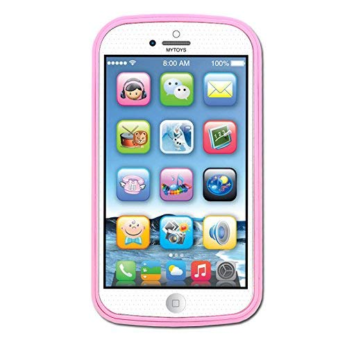 YOYOSTORE Toddler Mobile Phone Toy Play Game Learning English Music Cell Phone Toy (Pink)