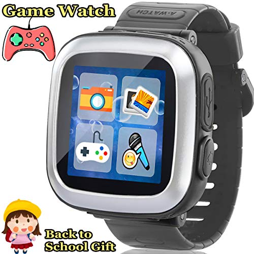 Kids Game Smart Watch - Smart Game Watch with 10 Game Camera Pedometer Timer Alarm Clock Touch Screen Kids Smart Watch Electronic Learning Toys Summer Back to School Gifts for Ages 3-12 Girls Boys