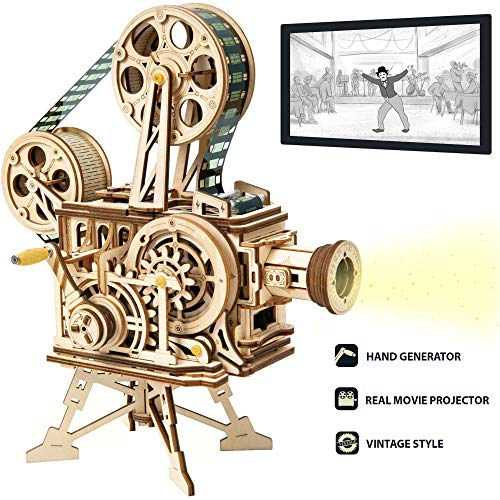 ROKR 3D Wooden Puzzle Mechanical Model Kits for Adults DIY Construction Kit Vitascope
