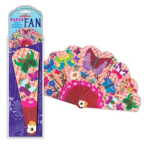 eeBoo Butterfly Paper Fan