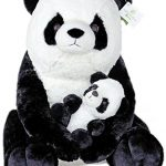 Exceptional Home Giant Pandas Plush Stuffed Animals. 18 inch Teddy Bear with Baby Panda. Kids Toys Gift