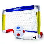 """Franklin Sports Kids Soccer Goal with Ball & Pump - 24"""" X 16"""" Folding Goal - Great for Backyard Or Indoor Play"""