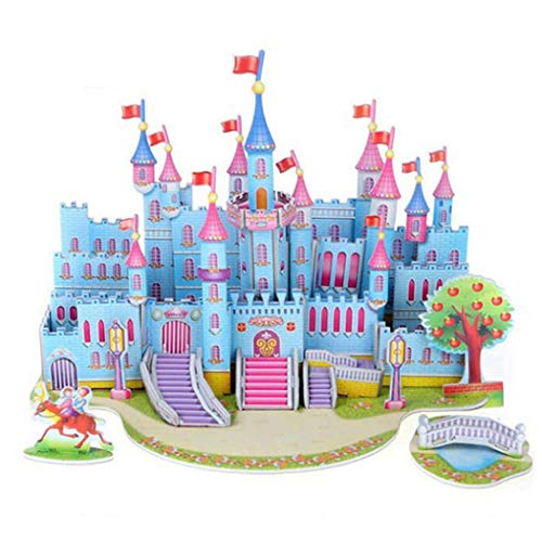 LEANO Kids 3D Puzzle Paper DIY Fun Board Early Learning Architectural House Gift for Boys Girls Children Child 3-D Puzzles
