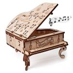 Wood Trick DIY Toy Piano Music Box Moonlight Sonata, Wooden Musical Piano Toy Mini - 3D Wooden Puzzle, Assembly Toys, Brain Teaser for Adults and Kids