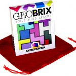 GeoBRIX Solve, Build, Create 3D Puzzle Bonus Red Velvet Drawstring Storage Pouch Bundled Items
