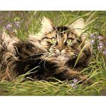 Jigsaw Puzzle 1000 Pieces Adult Puzzle Wooden Puzzle Classic 3D Puzzle Grass Cat Kitty Animal DIY Collectibles Modern Home Decoration 75X50Cm