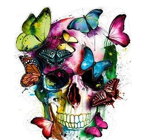 Jigsaw Puzzle 1000 Piece 3D Puzzle Butterfly Skull Kits for Adults DIY 75X50Cm