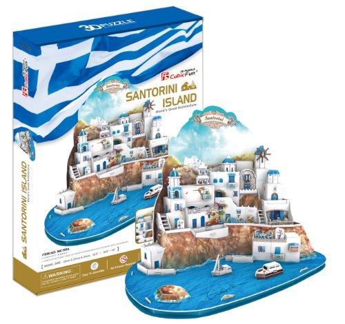 3D Puzzle of World's Great Architecture Santorini Island