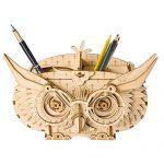 Rolife Wood Craft 3D DIY Model Building Kits Owl Pen Holder Gift for Children